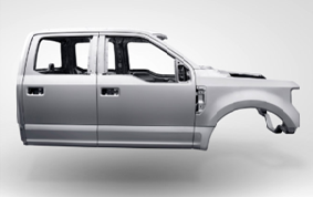 Aluminum body vehicle
